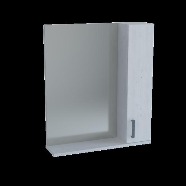 13.30 (14) Полка зеркальная 60 ЭКО+ со шкафом массив сосны