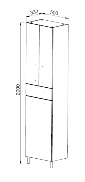 13.11 (3) Шкаф 50 Эко+ с корзиной