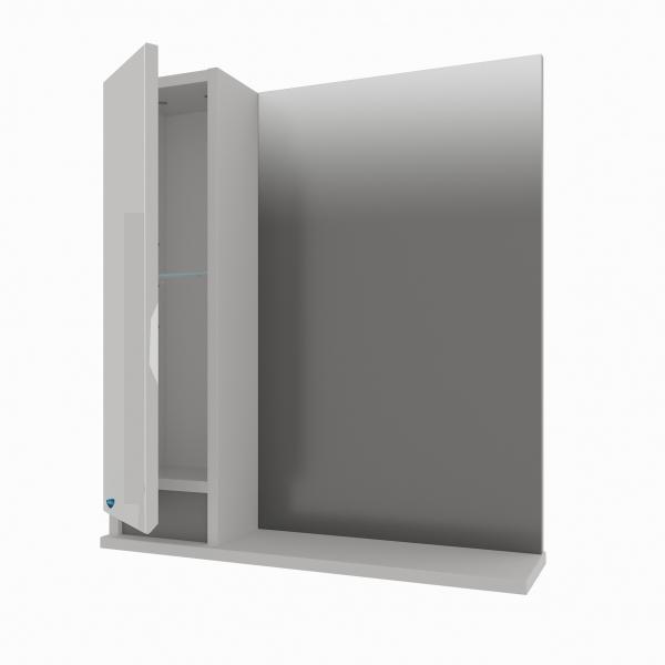 47.05 Полка зеркальная со шкафом 70 Бергамо L/R