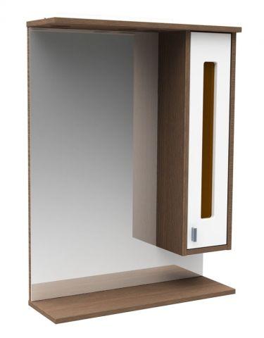 54.05-01 Полка зеркальная со шкафом 75 Рио левая