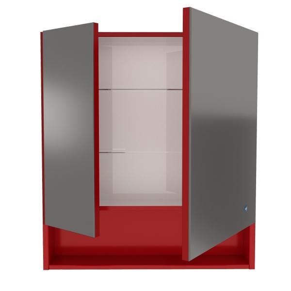 61.32 (10) Шкаф зеркальный Фиджи 80