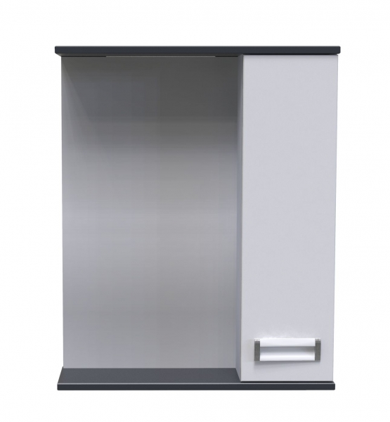 62.22 (5) Полка зеркальная 60 Лофт со шкафом