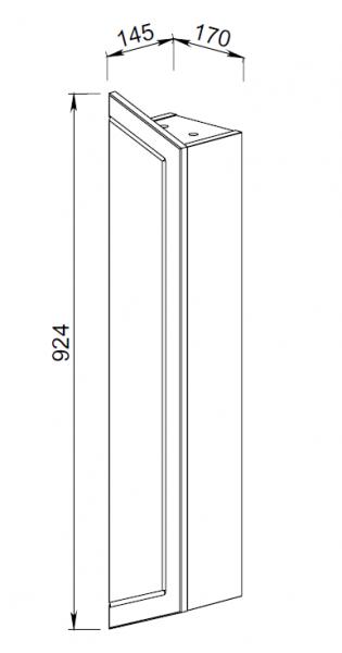 102.22(3) Шкаф для зеркала Палермо