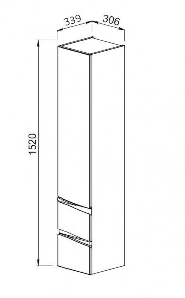 61.11 Шкаф 35 Фиджи с ящиками подвесной L/R