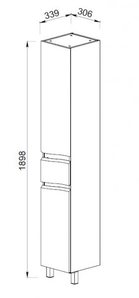 61.12 (9) Шкаф 35 Фиджи с ящиком и корзиной R