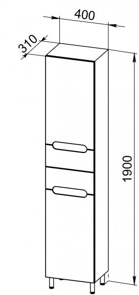 96.11 Пенал 40 ANSI с корзиной